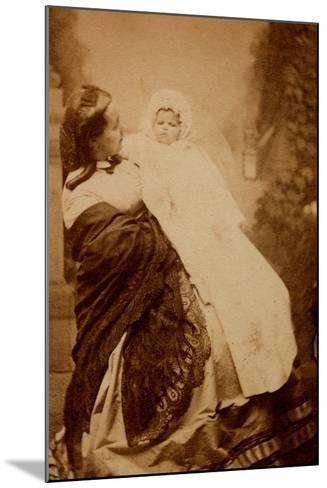 Woman with Her Child--Mounted Photographic Print
