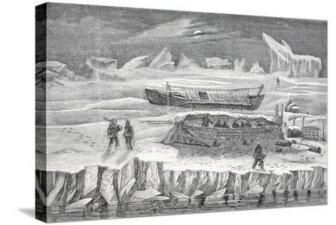 Bivouac in Boats, Pub. London 1874--Stretched Canvas Print