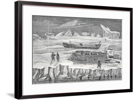 Bivouac in Boats, Pub. London 1874--Framed Art Print