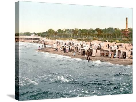 Colberg Beach on the Baltic Sea, 1890-1900--Stretched Canvas Print