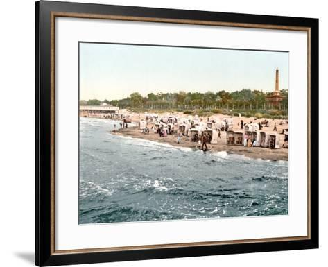 Colberg Beach on the Baltic Sea, 1890-1900--Framed Art Print