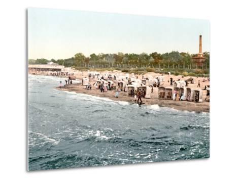 Colberg Beach on the Baltic Sea, 1890-1900--Metal Print