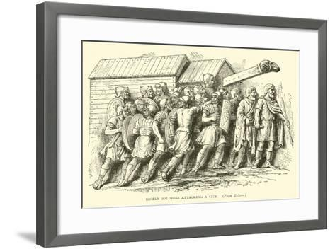 Roman Soldiers Attacking a City--Framed Art Print