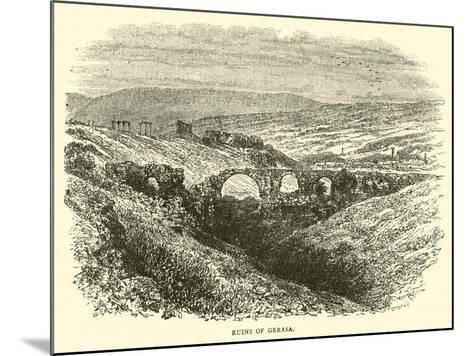 Ruins of Gerasa--Mounted Giclee Print