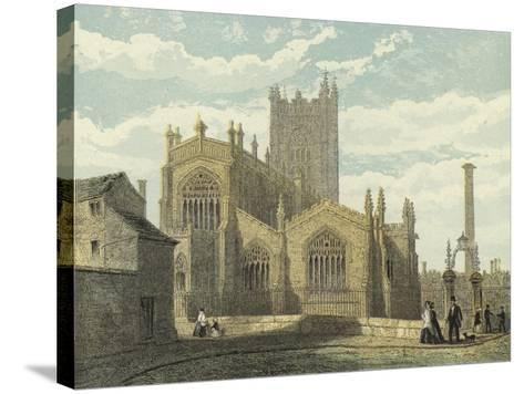 Manchester Cathedral, North East View--Stretched Canvas Print