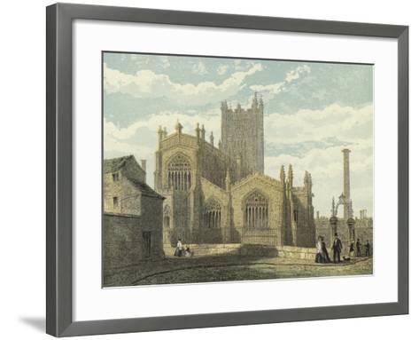 Manchester Cathedral, North East View--Framed Art Print