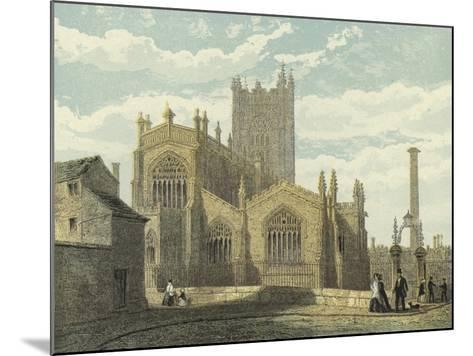 Manchester Cathedral, North East View--Mounted Giclee Print