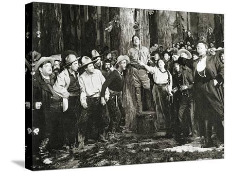 Scene from the Premiere of La Fanciulla Del West--Stretched Canvas Print