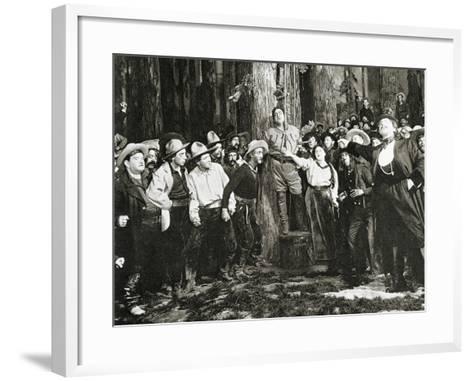 Scene from the Premiere of La Fanciulla Del West--Framed Art Print