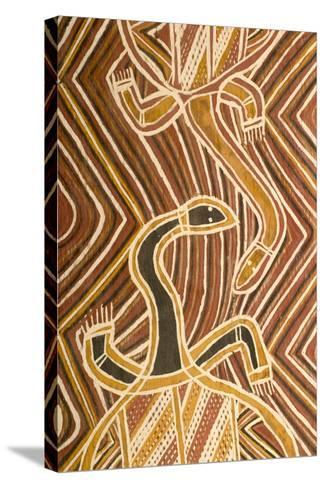 Aboriginal Design--Stretched Canvas Print