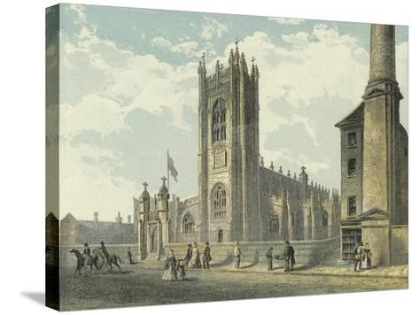 Manchester Cathedral, South West View--Stretched Canvas Print