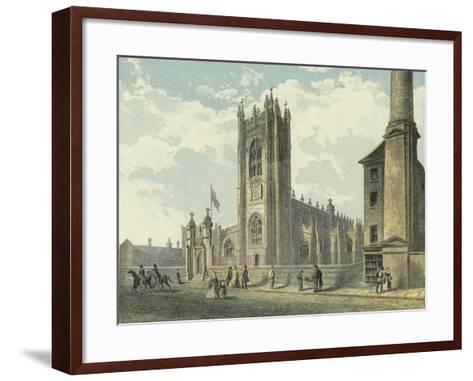 Manchester Cathedral, South West View--Framed Art Print