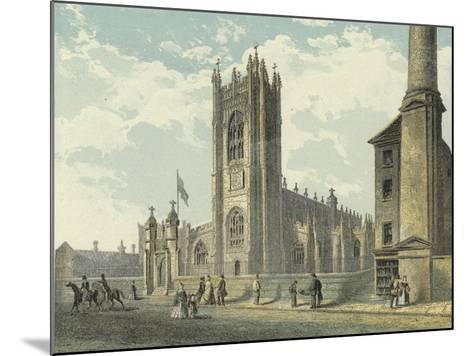 Manchester Cathedral, South West View--Mounted Giclee Print