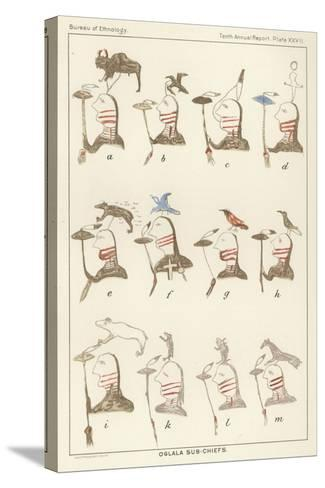 Oglala Sub-Chiefs--Stretched Canvas Print