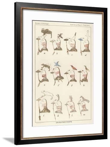 Oglala Sub-Chiefs--Framed Art Print