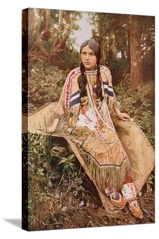 An Ojibwa Maiden--Stretched Canvas Print