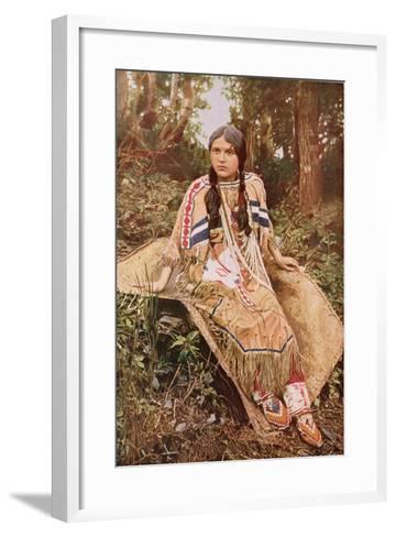An Ojibwa Maiden--Framed Art Print