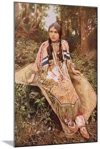 An Ojibwa Maiden--Mounted Giclee Print