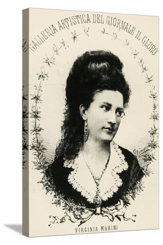 Portrait of Virginia Marini--Stretched Canvas Print