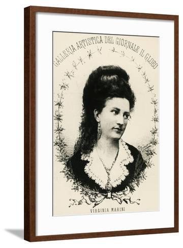 Portrait of Virginia Marini--Framed Art Print