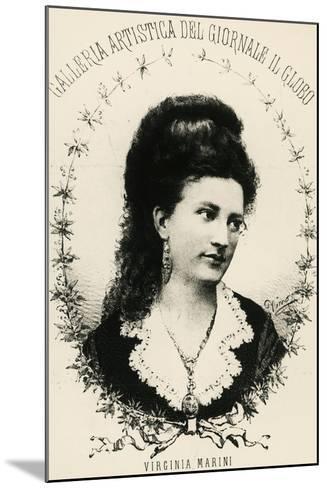 Portrait of Virginia Marini--Mounted Giclee Print