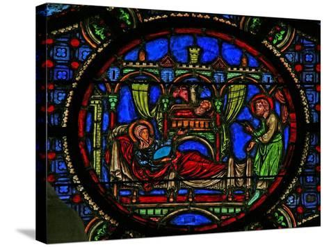 Window W0 Depicting the Nativity--Stretched Canvas Print