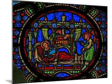 Window W0 Depicting the Nativity--Mounted Giclee Print