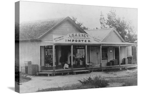 Exterior of a Dressmaker's Shop, New Zealand--Stretched Canvas Print