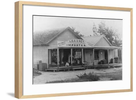 Exterior of a Dressmaker's Shop, New Zealand--Framed Art Print