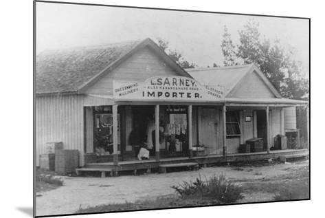 Exterior of a Dressmaker's Shop, New Zealand--Mounted Photographic Print