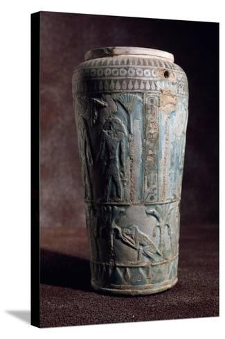 Glazed Earthenware Vase of Egyptian Origin--Stretched Canvas Print