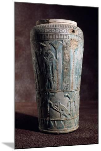 Glazed Earthenware Vase of Egyptian Origin--Mounted Giclee Print