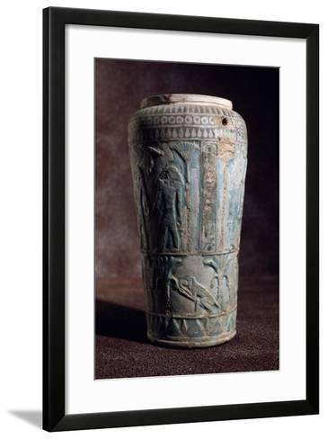 Glazed Earthenware Vase of Egyptian Origin--Framed Art Print