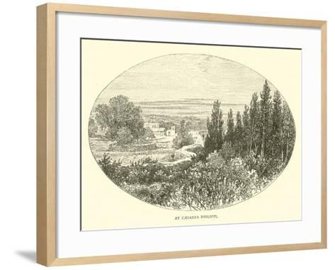 At Caesarea Philippi--Framed Art Print