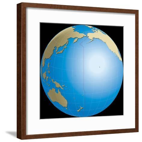 Diagram of Earths International Date Line--Framed Art Print