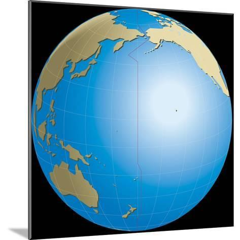 Diagram of Earths International Date Line--Mounted Giclee Print