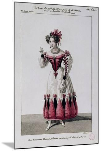Costume Sketch for Rosina--Mounted Giclee Print