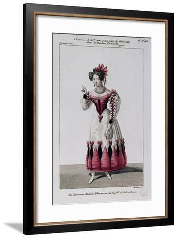 Costume Sketch for Rosina--Framed Art Print