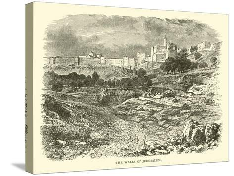 The Walls of Jerusalem--Stretched Canvas Print
