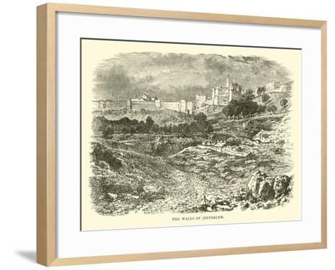 The Walls of Jerusalem--Framed Art Print