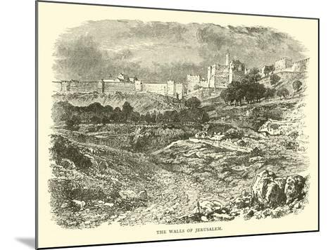 The Walls of Jerusalem--Mounted Giclee Print