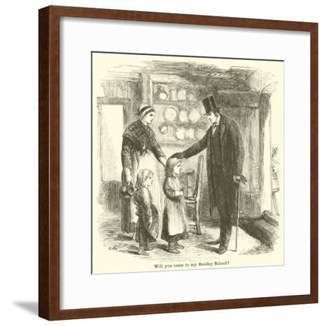 Will You Come to My Sunday School?--Framed Art Print