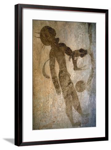 Man Swimming, Rock Painting, Tassili N'Ajjer--Framed Art Print