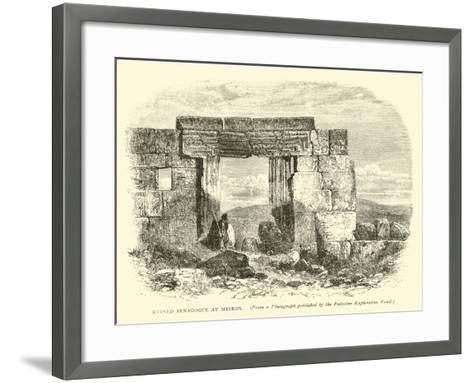 Ruined Synagogue at Meiron--Framed Art Print