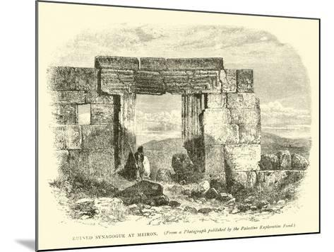 Ruined Synagogue at Meiron--Mounted Giclee Print
