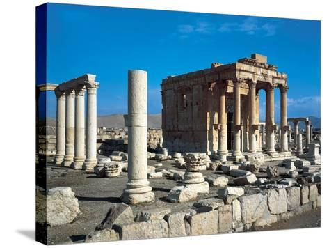 The Temple of Baal Shamin in Palmyra--Stretched Canvas Print