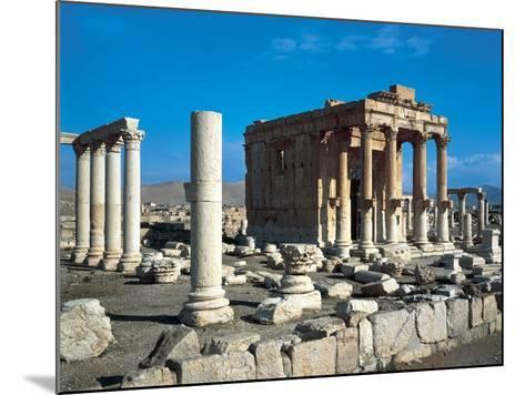 The Temple of Baal Shamin in Palmyra--Mounted Photographic Print