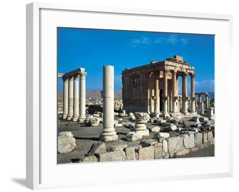 The Temple of Baal Shamin in Palmyra--Framed Art Print
