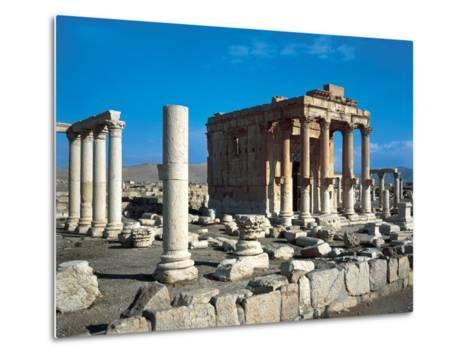 The Temple of Baal Shamin in Palmyra--Metal Print