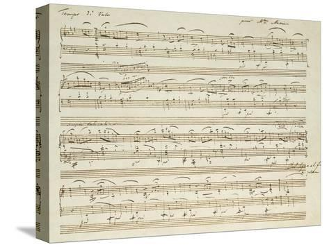 Handwritten Score for Waltz in Flat Major--Stretched Canvas Print